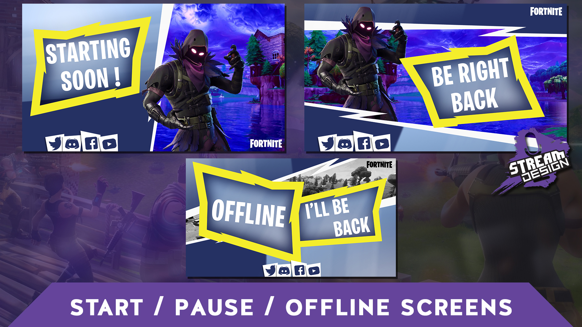 """""""Fortnite Themed"""" – Screens, Overlay & Panels for Twitch"""